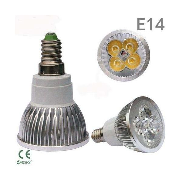 LED žárovka E14 4x3W=12W pure white